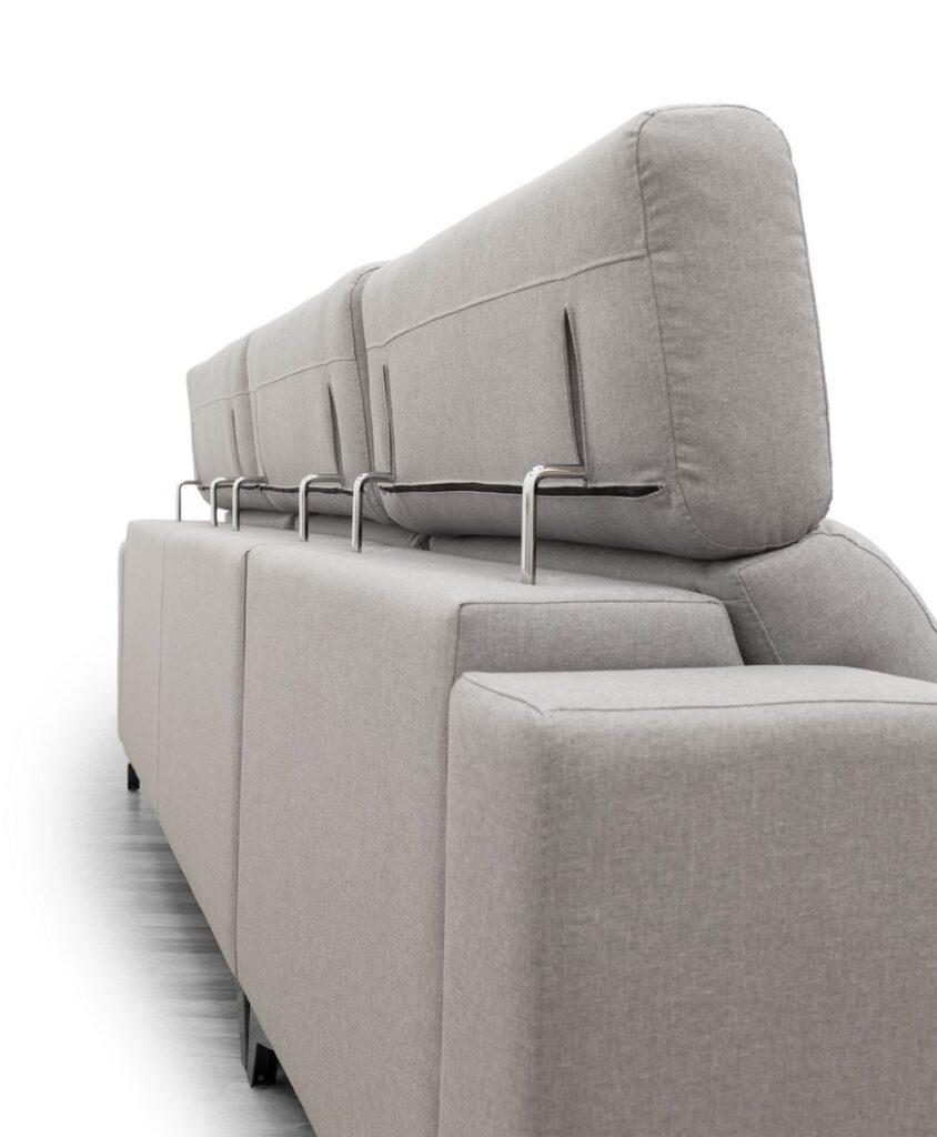 Amelia 3 asientos deslizantes, detalle trasera